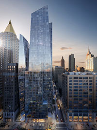 Rendering of 400 Park Avenue South (credit: Christian de Portzamparc/ Handel)