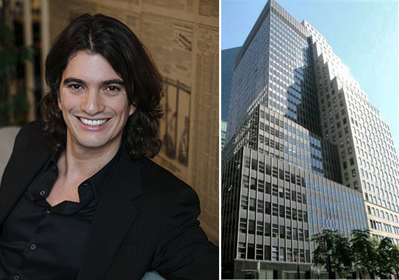 Adam Neumann and 110 Wall Street in the Financial District