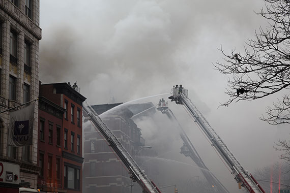The aftermath of the explosion at 121 Second Avenue in the East Village