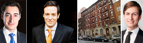 From left: Joe Koicim, Peter Von Der Ahe, 238 East 33rd Street and Jared Kushner