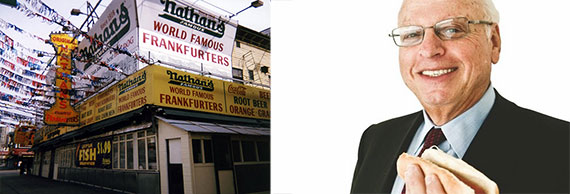 From left: Nathan's famous Hot Dogs and Howard Lorber