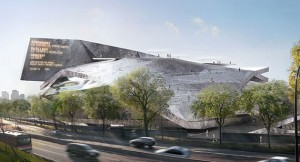 A rendering of Jean Nouvel-designed Philharmonie de Paris
