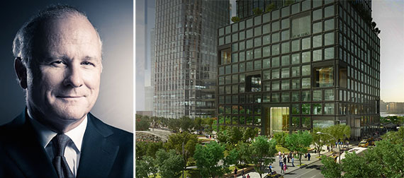 From left: John Westerfield and a rendering of 55 Hudson Yards