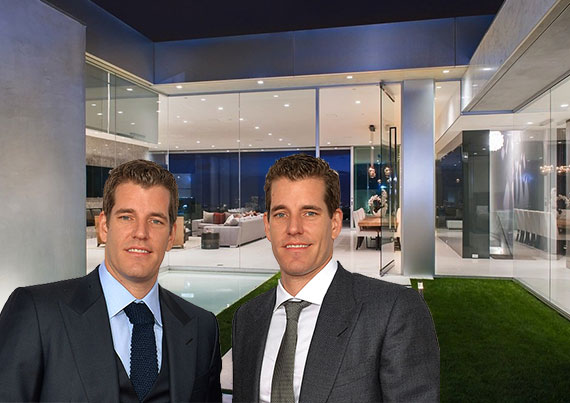 The Winklevoss twins and their