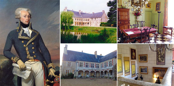 Marquis de Lafayette and his chateau