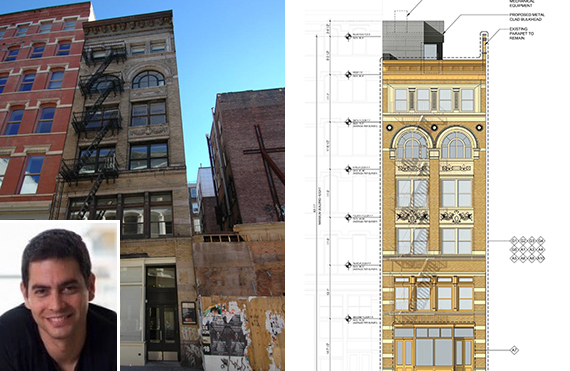 From left: 40 Wooster Street in Soho and plans for restoration (credit: Easton Architects)