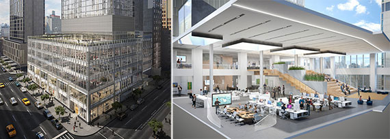 Rendering for the Durst Organization's 855 Sixth Avenue