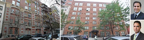 220 and 210 East 22nd Street and  Broad Street Development partners Raymond Chalme (top) and Daniel Blanco