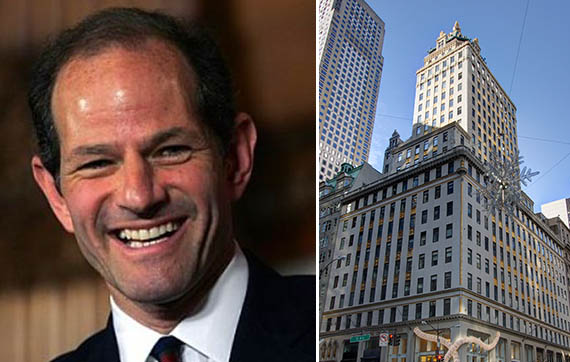 Eliot Spitzer and the Crown Building in Midtown