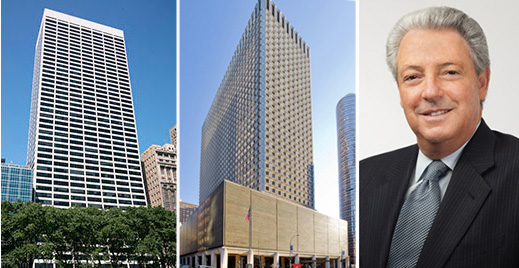 From left: 1114 Sixth Avenue, 909 Third Avenue and Interpublic Group CEO Michael Roth