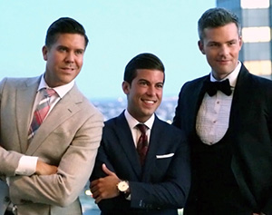 From left: Fredrik Eklund, Luis Ortiz and Ryan Serhant