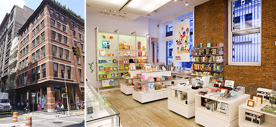 From left: 81 Spring Street and the MoMa store
