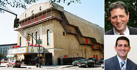 Clockwise from left: The Pavilion Theater in Park Slope, Brad Lander and Hidrock Realty's Abraham Hidary