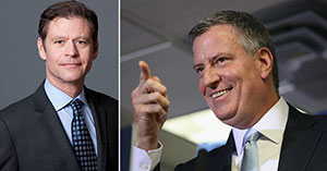 From left: Ric Clark and Bill de Blasio