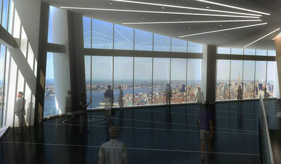 Rendering of the One World Trade Center observatory (credit: One World Observatory)