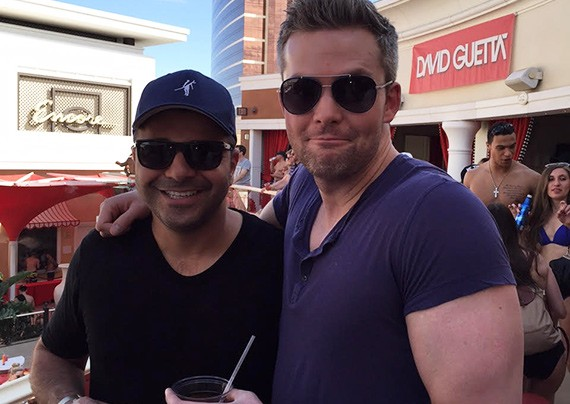 From left: Ilan Bracha and Ryan Serhant at the Encore  Beach Club