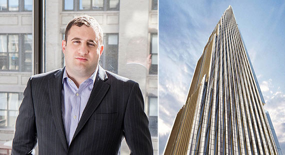 From left: Michael Stern and a rendering of 111 West 57th Street