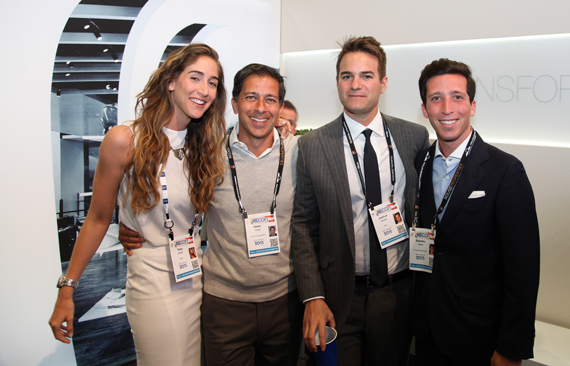 From left: Tess Jacoby of RKF, Haim Chera of Crown Acquisitions, Joshua Strauss of RKF and Stanley Chera of Crown Acquisitions at the Las Vegas Convention Center on Monday