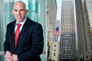 From left: RXR's Scott Rechler and 75 Rockefeller Plaza