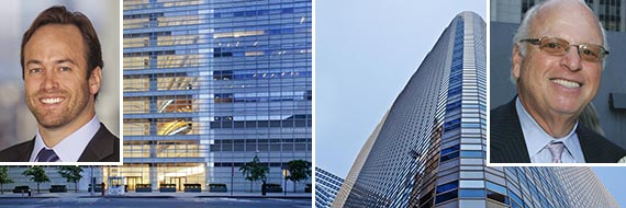 Renderings of 111 Murray Street in Tribeca (credit: KPF) (inset: Winston Fisher, left, Howard Lorber, right)