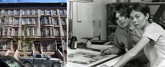 From left: 37 West 70th Street and Jane and Jann Wenner in the 1960s