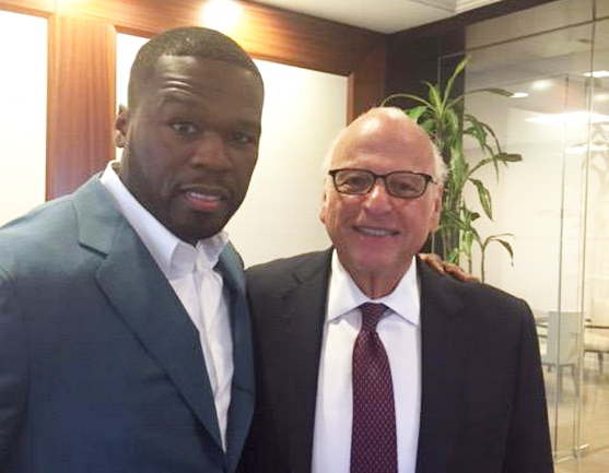 From left: 50 Cent and Howard Lorber