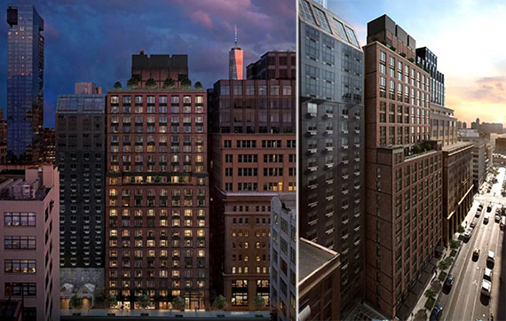 Renderings of 70 Charlton Street in Hudson Square (Credit: Beyer Blinder Belle via NY YIMBY)