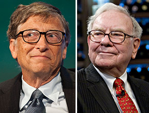 From left: Bill Gates and Warren Buffett