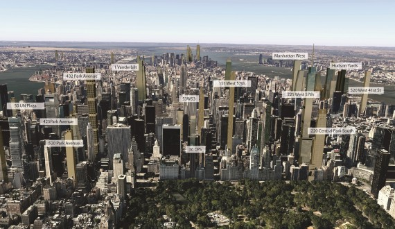 A visualization of what Midtown's skyline could look like in 2018 (Credit: CityRealty)