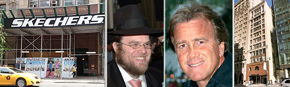 Scaffolding outside 509 Fifth Avenue, Rabbi Joshua Metzger, Jeff Sutton and 509 Fifth Avenue