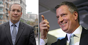 From left: Scott Stringer and Bill de Blasio