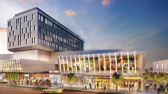 A rendering of the Empire Outlets mall under construction in St. George, Staten Island.
