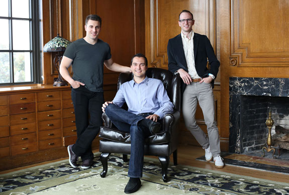Airbnb co-founders Nathan Blecharczyk, Joe Gebbia and Brian Chesky
