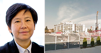 From left: Greenland's I-Fei Chang and a rendering of the empty lot at 615 Dean