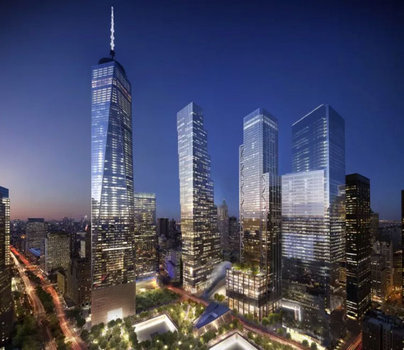 Rendering of the full World Trade Center complex (Credit: Silverstein Properties)