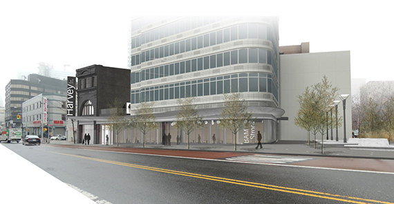 Rendering of expansion plans on Fulton Street in Fort Greene (credit: Brooklyn Academy of Music)