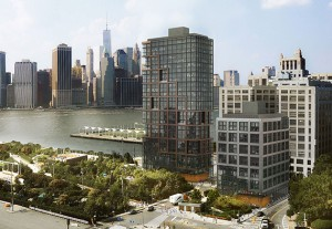 Rendering of the Pier 6 development at Brooklyn Bridge Park (credit: ODA)