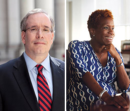 From left: Scott Stringer and Shola Olatoye (credit: Max Dworkin)
