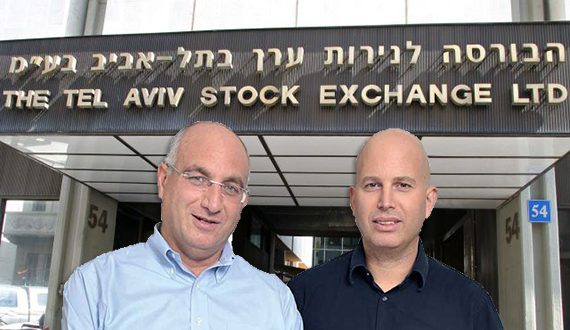 Gal Amit (left) and Rafael Lipa helped New York real estate firms raise $1.3 billion on the Tel Aviv Stock Exchange