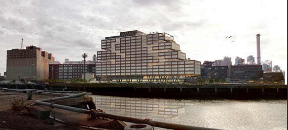 Rendering of WeWork building in the Brooklyn Navy Yard (credit: S9 Architecture)