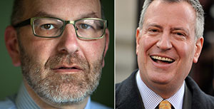 From left: Craig Gurian and Bill de Blasio