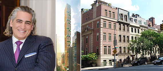From left: Joseph Beninati, a rendering of 426-432 East 58th Street and Sutton Place