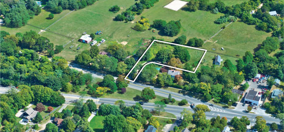 A 0.8-acre parcel located in East Hampton