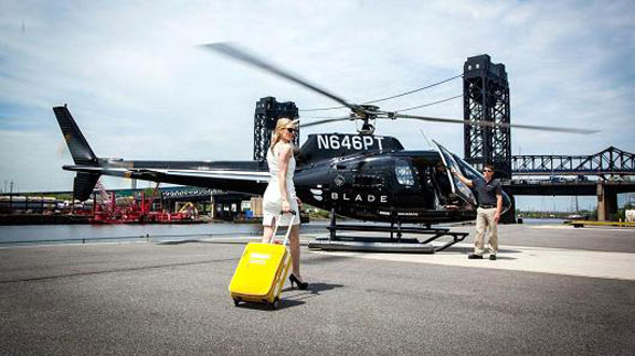 A Hamptons helicopter