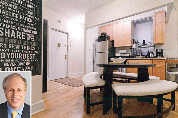 214 West 21st Street in Chelsea (credit: Airbnb) (inset: Larry Gluck)