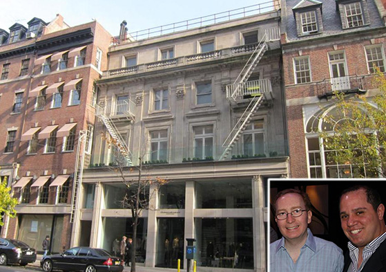 817 Madison Avenue on the Upper East Side (inset, from left: William and Rick Friedland)