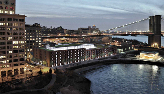 Rendering of the Empire Stores conversion in Dumbo