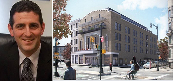 Abraham Hidary and rendering of the Pavilion Theater condo conversion (credit: Morris Adjmi Architects)