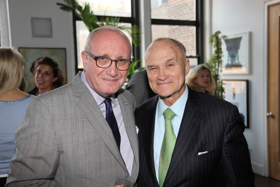 From left: Bruce Mosler and Ray Kelly