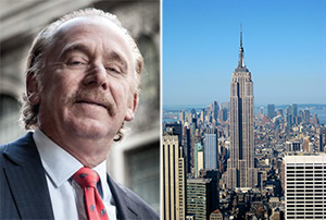 From left: James Kuhn (credit: STUDIO SCRIVO) and the Empire State Building in Midtown